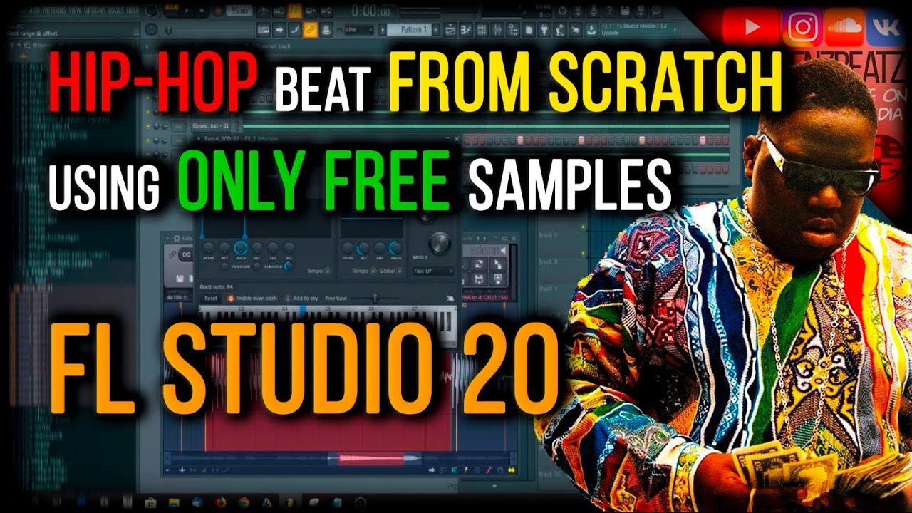 MAKING BEAT FROM SCRATCH [ONLY FREE SAMPLES] *FL Studio 20* Classic Hip-Hop  Beat | Notorious B I G
