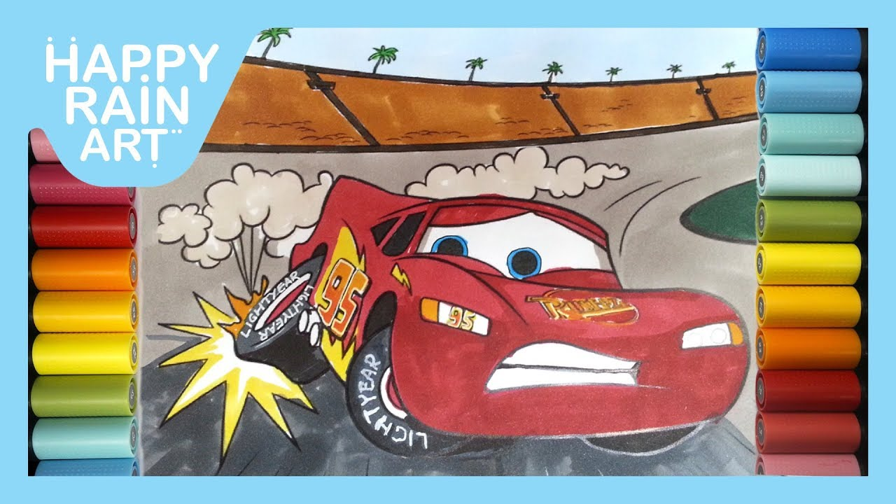 How To Color Lightning Mcqueen Lost Control Before Crash