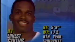 1991  Wk. 10 Oilers vs. Redskins