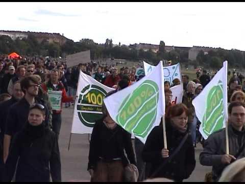 Tempelhofer Feld, Berlin, Demo gegen die Baupläne des Senats, 23.9.2012