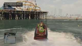 GTA 5 Online: Jet Ski stunt! (Jump onto a boat)