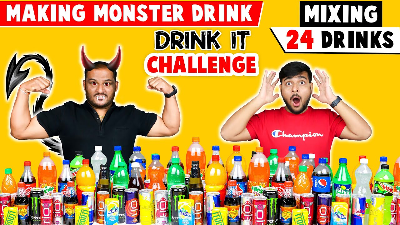 MIXING ALL OUR 24 DRINKS TOGETHER AND DRINKING IT | Mix It & Drink It Challenge | Viwa Food World