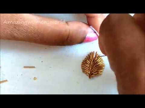 Zardosi Work for beginners with normal Stitching Needle | Make Aari Embroidery like Professional