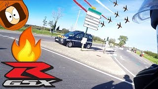 GENDARMERIE & AVIONS DE CHASSE #GSXR 🏍️ #MOTOVLOG