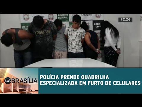 Polícia prende quadrilha especializada em furto de celulares | SBT Brasília 05/06/2018
