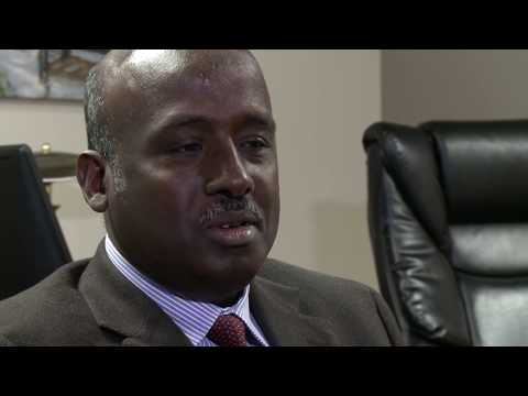 Aden Batar, the first Somali refugee to step foot in Utah
