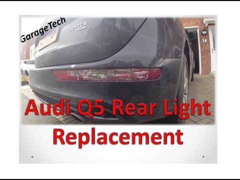 Audi Q5 rear light unit replacement - YouTube