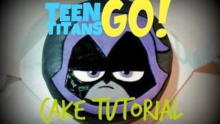 Teen Titans Go! Raven Cake Tutorial