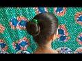 3 - Cute Summer Bun  Hairstyles For Girls || Everyday Bun Hairstyle For Girls ||