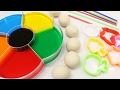 Learn Colors for Children Toddlers Babies Dye Coloring Play Doh Toys - Learning Colours Video for Ki