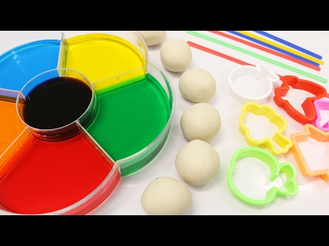 Thumbnail: Learn Colors for Children Toddlers Babies Dye Coloring Play Doh Toys - Learning Colours Video for Ki