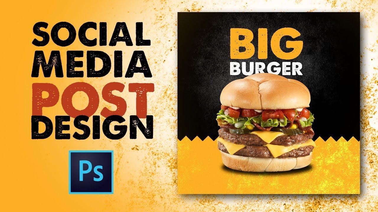 How To Design Social Media Post For Restaurant Photoshop Urdu Hindi Youtube