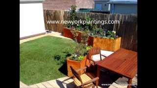 A Nyc Terrace Garden With A Custom Built Deck - New York Plantings