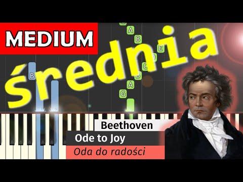 🎹 Oda do radości (L. van Beethoven, Ode to joy) - Piano Tutorial (średnia wersja) (MEDIUM) 🎹