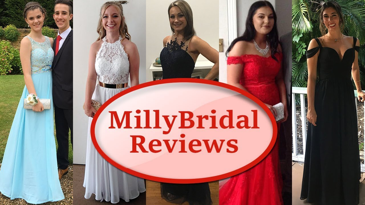 Trying On Cheap Prom Dresses From MillyBridal| Online Formal Party ...