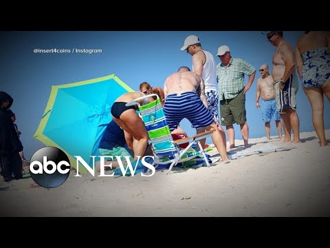 Watch: Woman Impaled by Beach Umbrella Prompts Safety Warning!