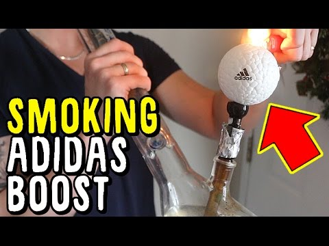 SMOKING THE RARE ADIDAS BOOST BALL! .. WHAT HAPPENS?!?