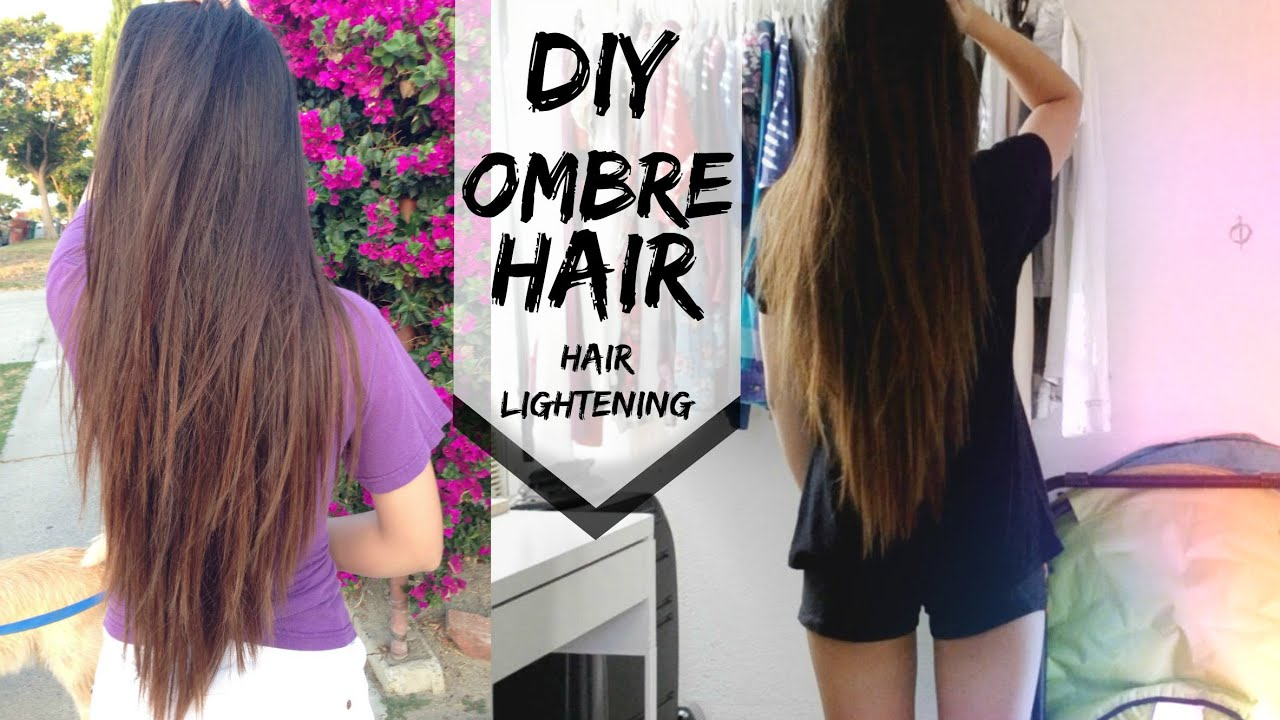 Diy Ombre Hair Without Hair Dye Youtube