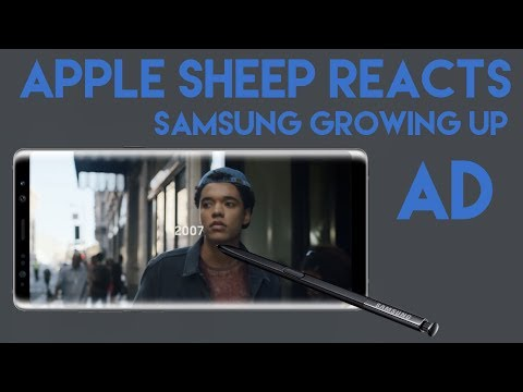 """Apple Sheep reacts to """"Growing Up"""" Samsung ad"""