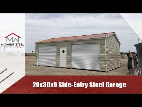 20x31x9 Side Entry Metal Garage