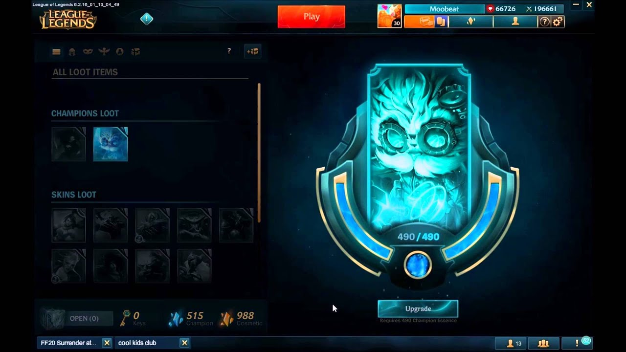 113 PBE Hextech Crafting Amp Loot Preview YouTube