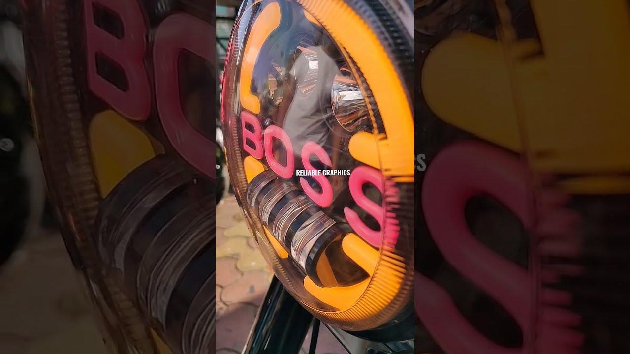 #royalenfieldclassic350 #customheadlight #bossheadlight #reliablegraphics #shot #shotvideo #wrapping