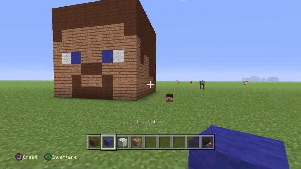 Minecraft Tuto How To Build A Steve Head Youtube