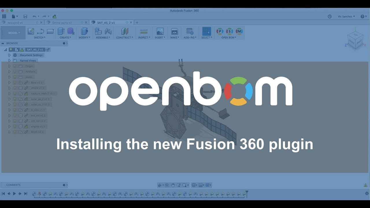 "Autodesk Fusion 360 ""one click"" BOM plug-in  How to install"