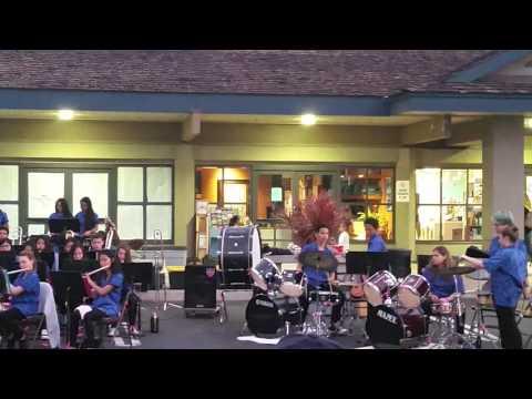 Lokelani intermediate school band playing at Azeka's Shopping Center.