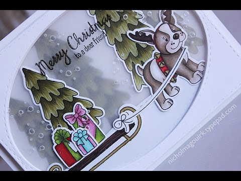 Simon Says Stamp From All Of Us | Simon & Dexter Christmas Layered Scene Card