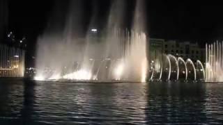 Шоу фонтанов в Дубае видео танцующие фонтаны в Дубае