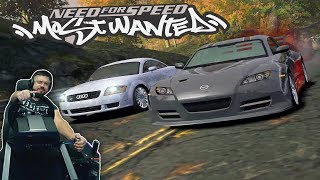 Соний на Audi TT vs Сисси на Mazda RX-8 прохождение Need for Speed Most Wanted