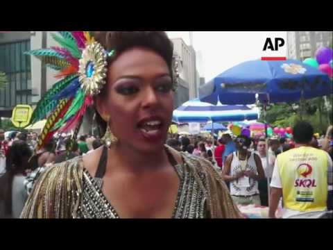 Millions Join Sao Paulo Gay Pride Parade