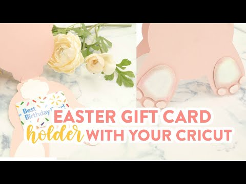 Easter Gift Card Holder With Your Cricut