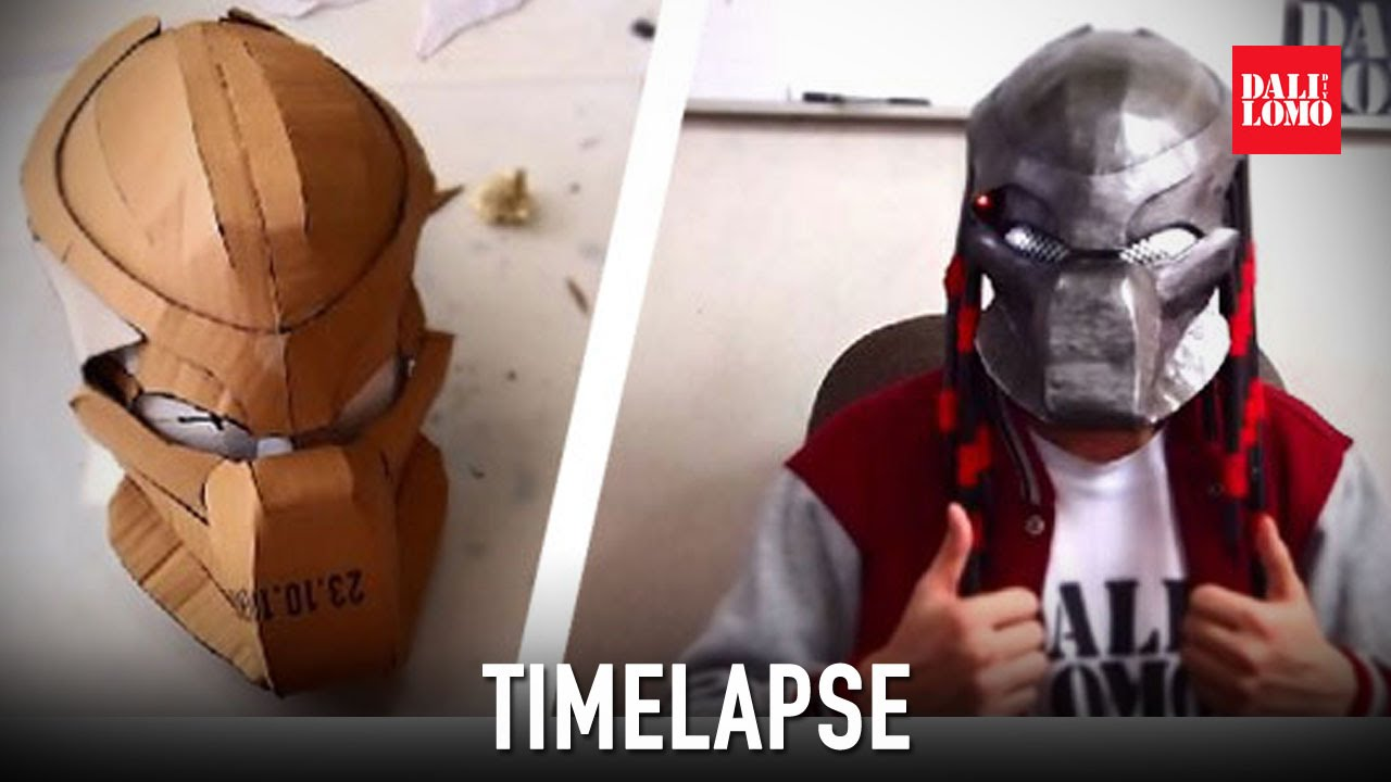 & Timelapse - Make Predator Bio-Mask DIY Cosplay - YouTube