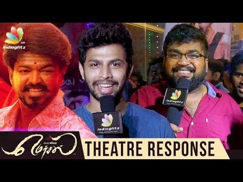 Mersal Rohini Theatre Response   Public Review & Reaction, Vijay Fans Celebration