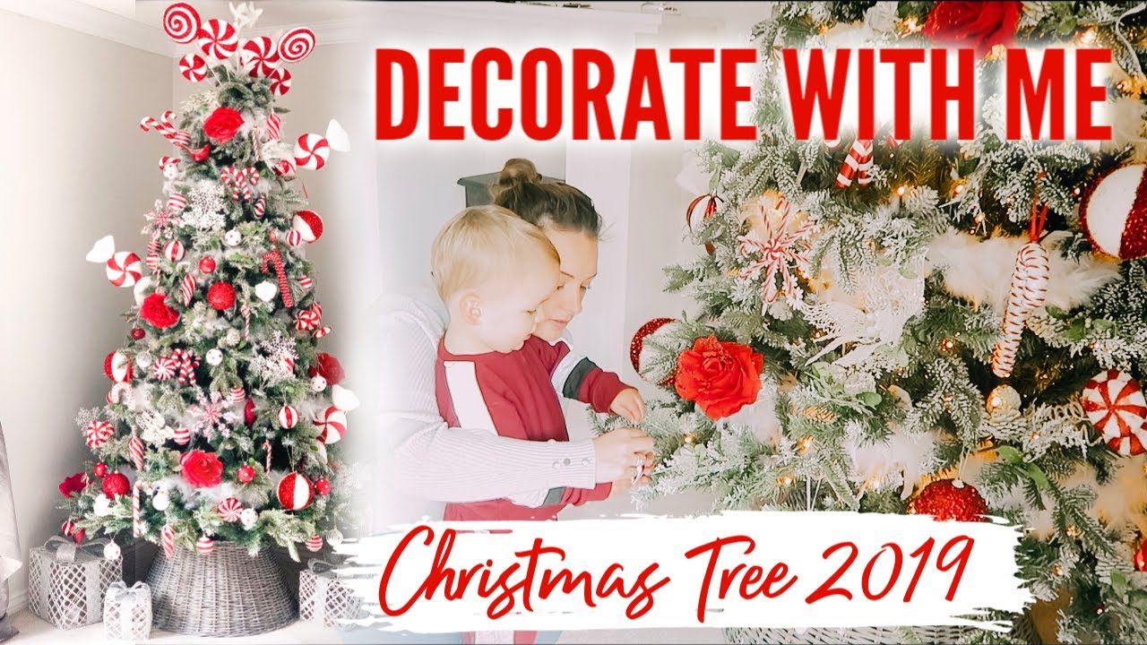 DECORATE MY CHRISTMAS TREE WITH ME 2019 CANDY CANE CHRISTMAS TREE UK