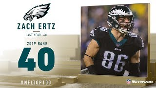 #40: Zach Ertz (TE, Eagles) | Top 100 Players of 2019 | NFL