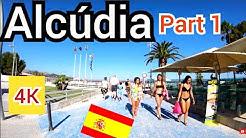 ⁴ᴷ ALCUDIA walking tour, Mallorca, Balearic Islands, Spain 🇪🇸 Part 1 (Majorca) 4K