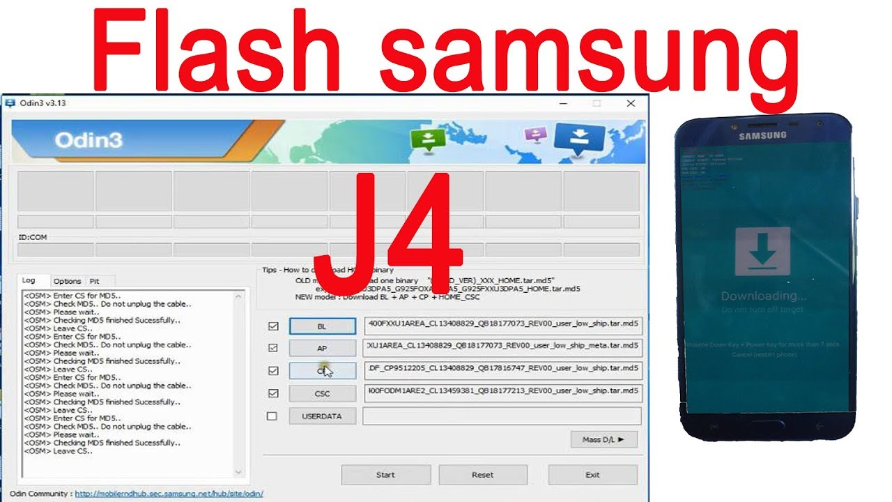 How to flash samsung galaxy J4 by Odin flash tool step by setp/J400F