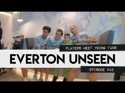 EVERTON UNSEEN #42: PLAYERS MEET YOUNG FANS + TRAINING