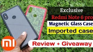 Case Magnet Anti Baret 2 in 1 Cover Metal Aluminum Casing Xiaomi Redmi Note 6 Pro Note 6Pro Redmi note 6