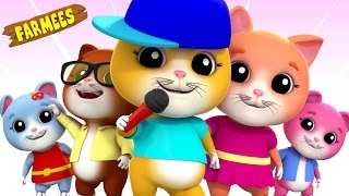Five Little Kittens | Nursery Rhymes | Kids Songs | Videos For Children by Farmees