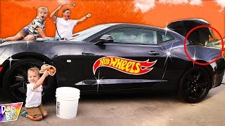 Giant Hot Wheels Car IN REAL LIFE! 🔥😱 (SURPRISE in Trunk!)