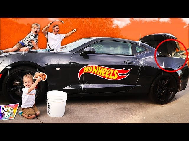 Giant Hot Wheels Car IN REAL LIFE! ???????? (SURPRISE in Trunk!)