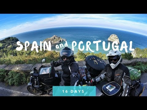 France, Spain and Portugal Moto Travel [GoPro 2016]