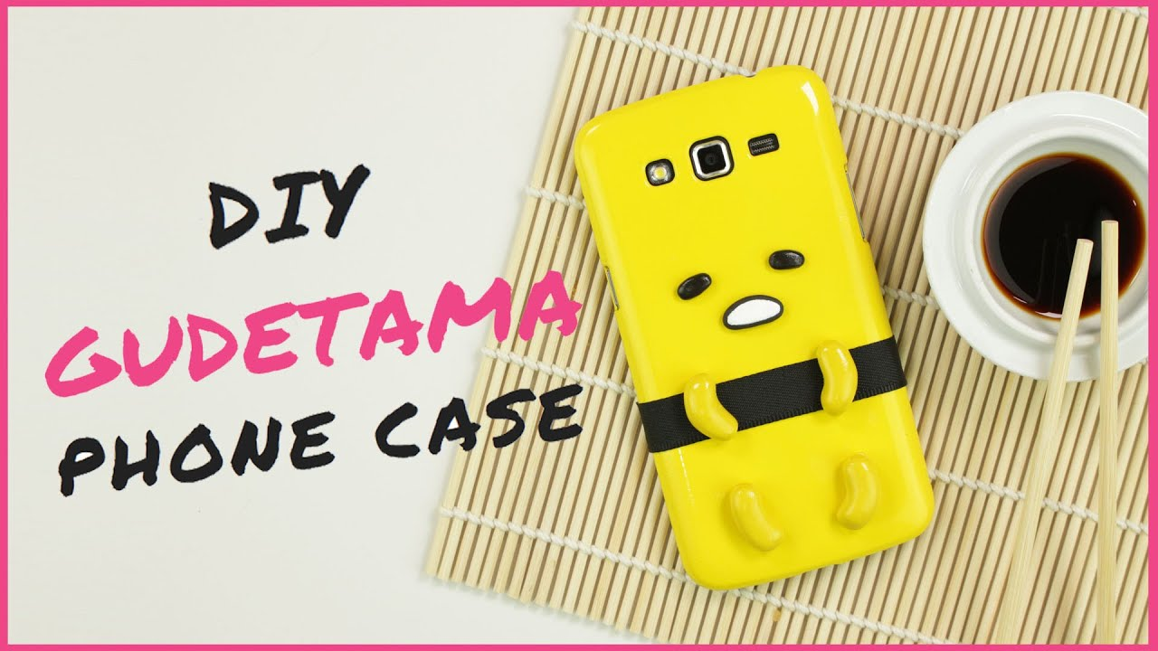 DIY Gudetama Phone Case