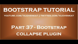 Bootstrap collapse plugin