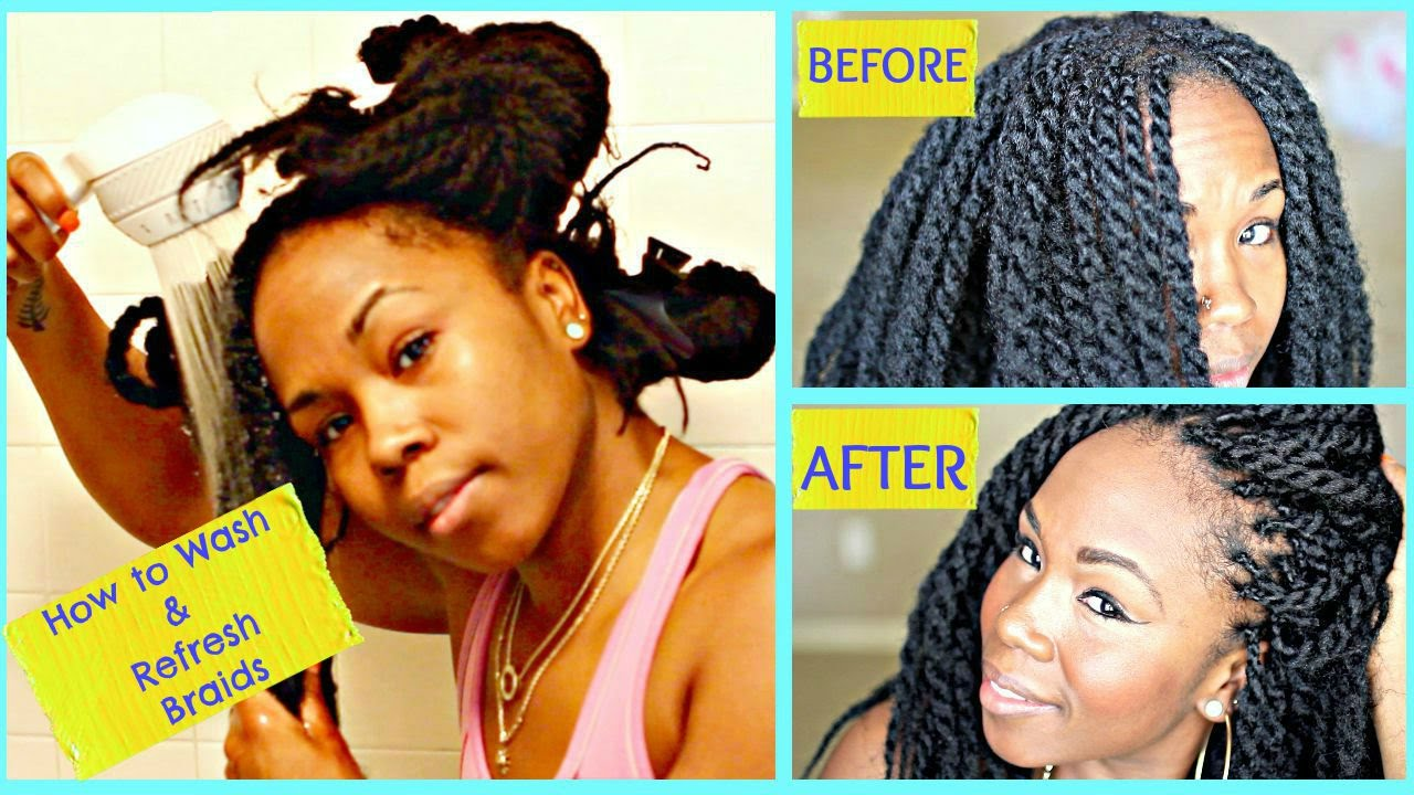 how to style hair without washing how to wash braids amp refresh your edges simple shampoo 6052