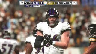 NFL Week 4 Baltimore Ravens @ Pittsburgh Steelers Gameplay Madden 19